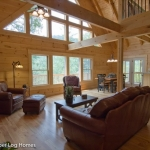 Great Room in Log Cabin